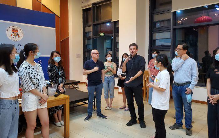 Exchange activities between students and College Fellows